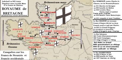 Rois Bretons_conquêtes_841_939 vs ennemis Francs